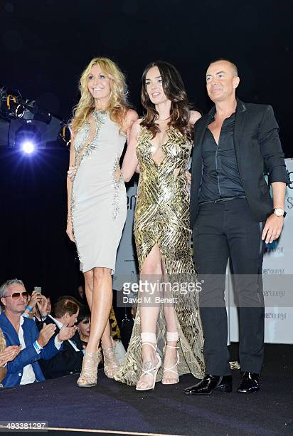 Melissa Odabash Tamara Ecclestone and Julien Macdonald attend the Amber Lounge 2014 Gala at Le Meridien Beach Plaza Hotel on May 23 2014 in Monaco...