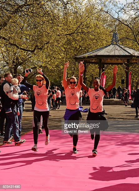 Melissa Odabash Vogue Williams and AJ Odudu attend the Lady Garden 5K Fun Run in aid of Silent No More Gynaecological Cancer Fund in Battersea Park...