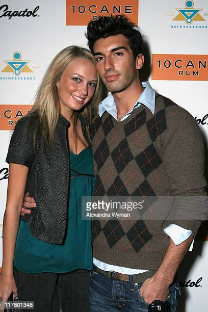 "Melissa Ordway and Justin Baldoni during 10 Cane Rum and Sean Lennon Host The ""Friendly Fire"" Premiere After Party in Los Angeles California United..."