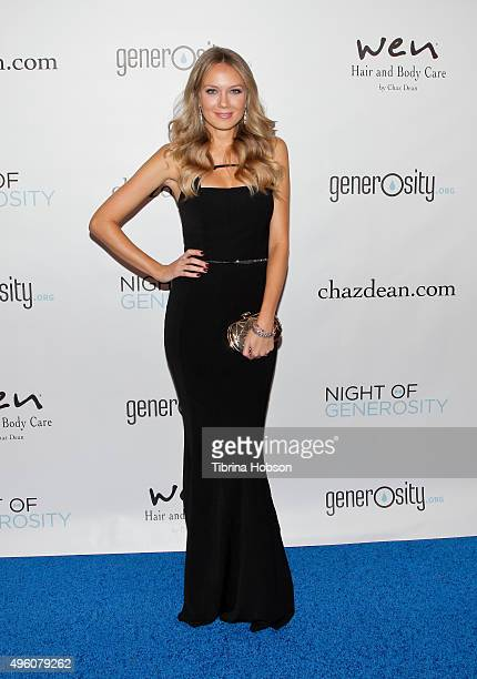 Melissa Ordway attends the 7th Annual 'Night of Generosity' Gala benefiting generosityorg at the Beverly Wilshire Four Seasons Hotel on November 6...