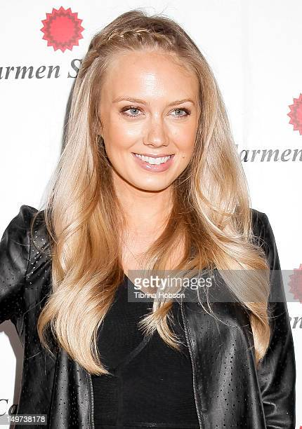 Melissa Ordway attends the Carmen Steffens U.S. West coast flagship store opening at Hollywood & Highland Center on August 2, 2012 in Hollywood,...