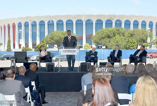 Melissa Ormond President MSG Entertainment The Madison Square Garden Company Mayor of Inglewood James T Butts Jr Azoff Music Management's Irving...