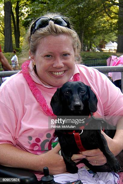 Melissa Ortiz and Lucy attend ANNE TAYLOR Race For The Cure Team and Survivors at Central Park on September 9 2007 in New York City