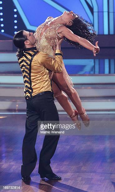 Melissa OrtizGomez and Manuel Cortez attend the Let's Dance Final at Coloneum on May 31 2013 in Cologne Germany