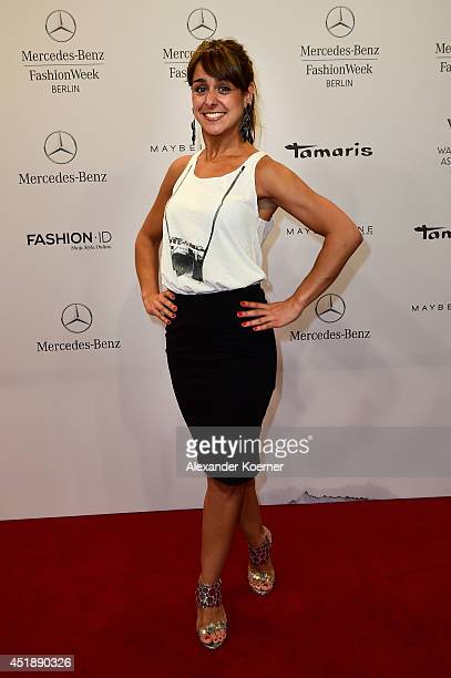 Melissa OrtizGomez attends the Glaw show during the MercedesBenz Fashion Week Spring/Summer 2015 at Erika Hess Eisstadion on July 9 2014 in Berlin...