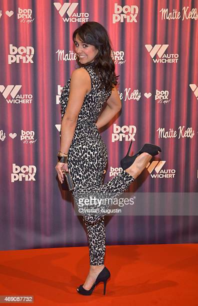 Melissa OrtizGomez attends the 'Maite Kelly bonprix' Spring/Summer 2015 Collection Presentation at AutoWichertWelt on April 9 2015 in Hamburg Germany