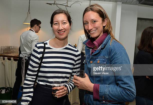 Melissa Ozawa Editor at Martha Stewart Living and Annie Novak attend the Floral Salon celebration by Garden Collage and Phaidon on May 4 2016 in New...