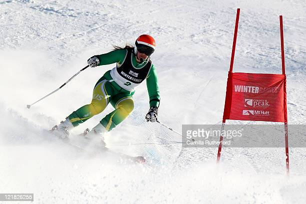 Melissa Perrine of Australia competes in the Womens Giant Slalom Visually Impaired during day 11 of the Winter Games NZ at Coronet Peak on August 23...