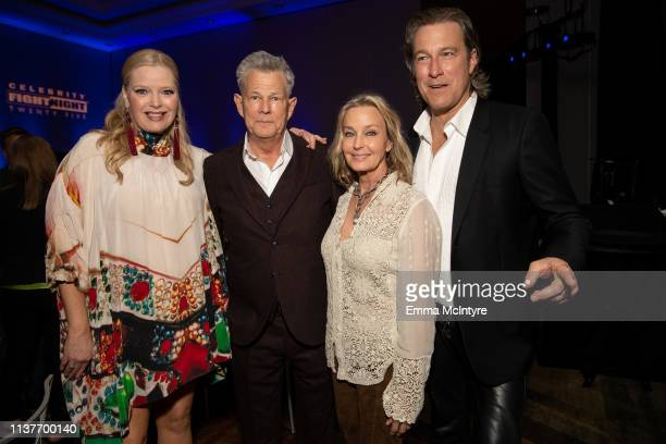 Melissa Peterman, David Foster, Bo Derek, and John Corbett attend the Celebrity Fight Night's Founders Club Dinner at JW Marriott Desert Ridge Resort...