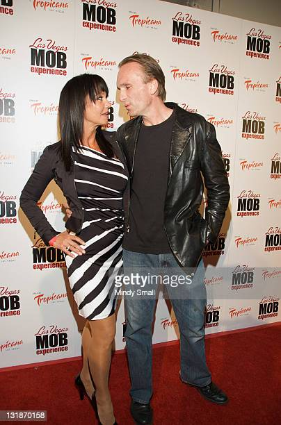 Melissa Prophet and Peter Greene attend grand opening of The Las Vegas Mob Experience at The Tropicana on March 29 2011 in Las Vegas Nevada