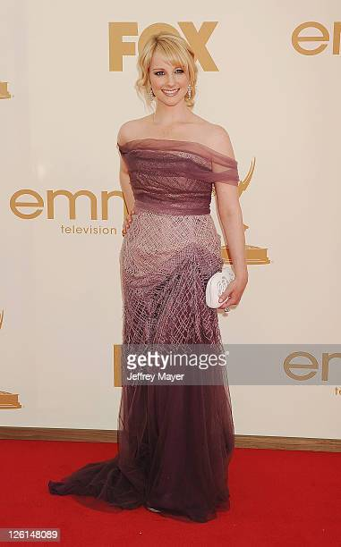 Melissa Rauch arrives at the 63rd Primetime Emmy Awards at the Nokia Theatre LA Live on September 18 2011 in Los Angeles California