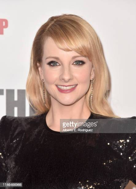 Melissa Rauch attends the series finale party for CBS' The Big Bang Theory at The Langham Huntington Pasadena on May 01 2019 in Pasadena California