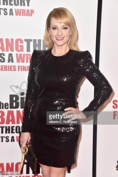 Melissa Rauch attends the series finale party for CBS' The Big Bang Theory at The Langham Huntington Pasadena on May 01 2019 in Pasadena California