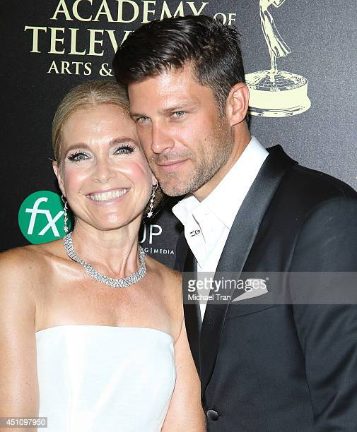 Melissa Reeves and Greg Vaughan arrive at the 41st Annual Daytime Emmy Awards held at The Beverly Hilton Hotel on June 22 2014 in Beverly Hills...