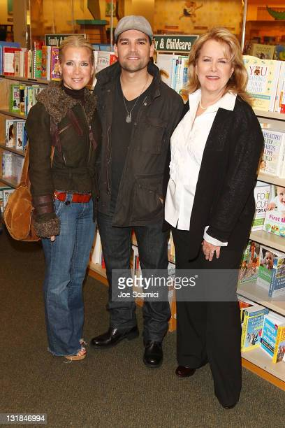Melissa Reeves Eddie Campbell and Sheri Anderson arrive to the Days Of Our Lives Book Launch Signing And Cast Meet Greet at Barnes Noble bookstore at...
