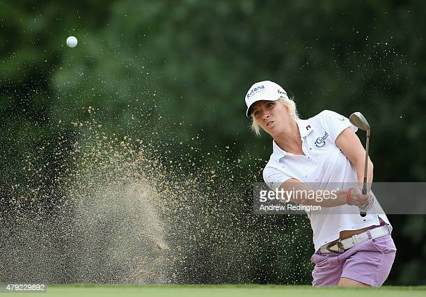 Melissa Reid of England in action during the first round of the ISPS Handa Ladies European Masters at The Buckinghamshire Golf Club on July 2 2015 in...