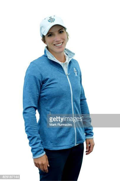 Melissa Reid of Europe poses for a portrait following the announcement of the 2017 Solheim Cup Europe and USA teams at Kingsbarns Golf Links on...