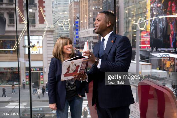 Melissa Rivers and A J Calloway visit 'Extra' at HM Times Square on October 26 2017 in New York City