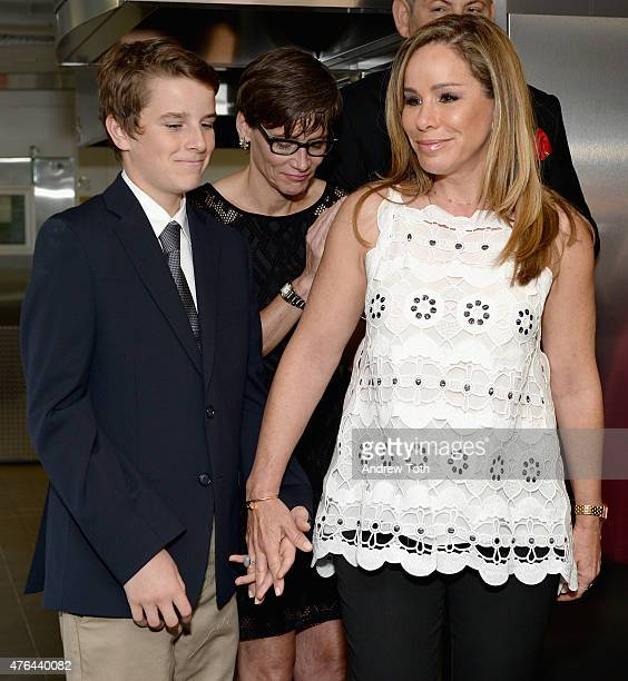 Melissa Rivers and Cooper Endicott attend the celebration of God's Love We Deliver returning to Soho with a dedication of the new Michael Kors...