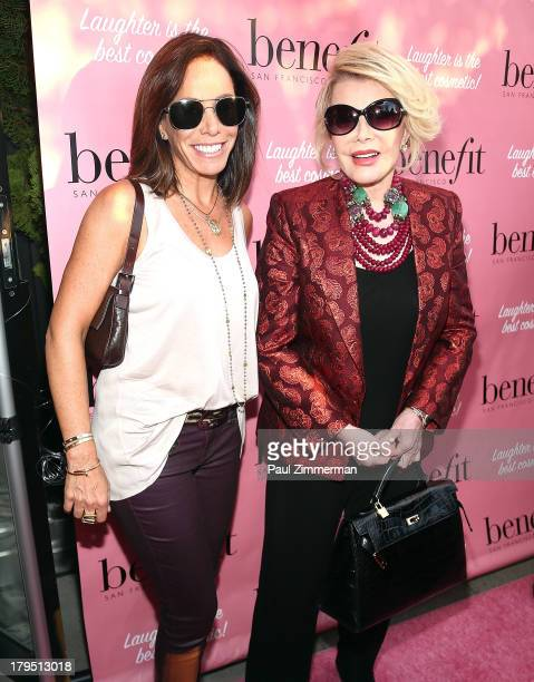 Melissa Rivers and Joan Rivers attend the E Fashion Police Fashion Week Kickoff Party at Thompson Soho on September 4 2013 in New York City
