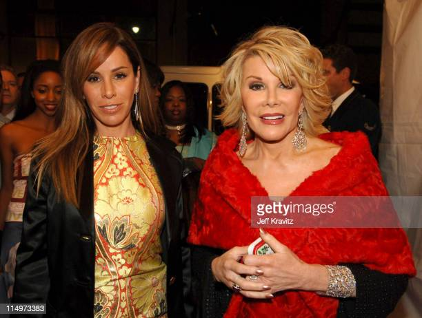 Melissa Rivers and Joan Rivers during The 39th Annual CMA Awards - Red Carpet at Madison Square Garden in New York City, New York, United States.
