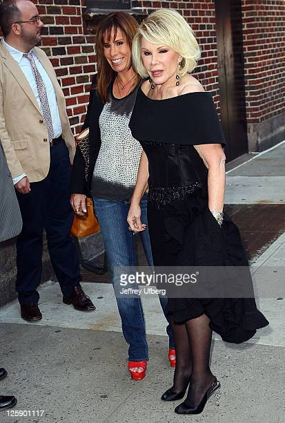 Melissa Rivers and Mom/Comedian Joan Rivers arrive at 'Late Show With David Letterman' at the Ed Sullivan Theater on May 10 2011 in New York City
