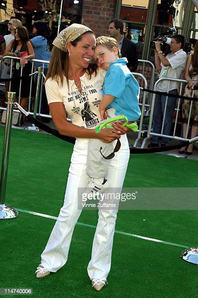 Melissa Rivers and son attending the Shrek 2 Premiere at Mann Village Westwood in Los Angeles California 5/8/04