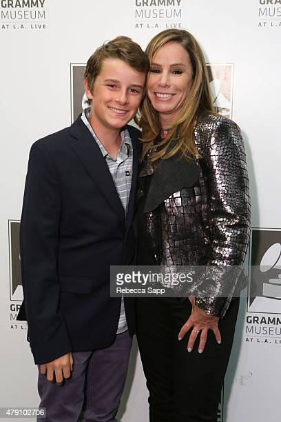 Melissa Rivers and son Cooper Endicott attend A Conversation With Melissa Rivers at The GRAMMY Museum on June 30 2015 in Los Angeles California