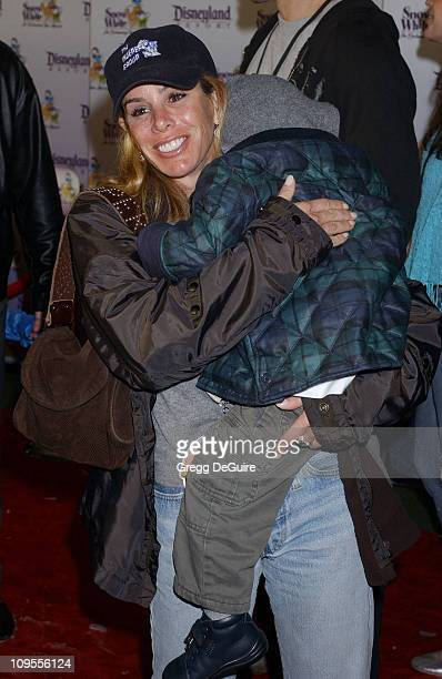 Melissa Rivers and son during Snow White An Enchanting New Musical Premiere Arrivals at Fantasyland Theatre at Disneyland in Anaheim California...