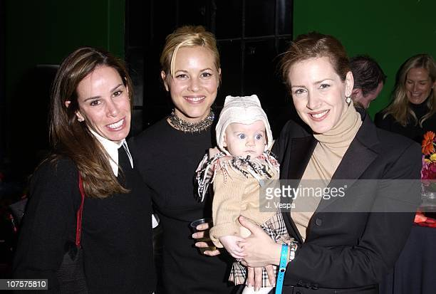 Melissa Rivers Maria Bello Joely Fisher child Skylar pose at the 25th Anniversary of The Muppet Show at The Palace in Hollywood California