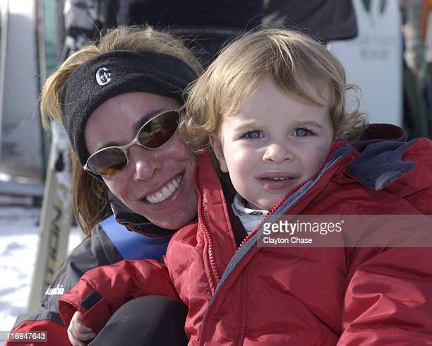 Melissa Rivers son Cooper during 2002 Celebrity Ski Classic at Deer Valley Resort in Park City UT United States