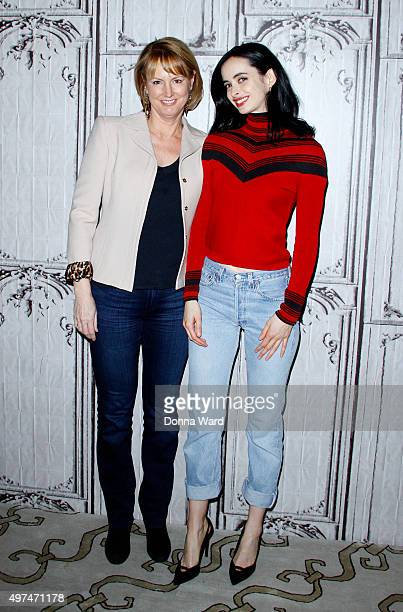 Melissa Rosenberg and Krysten Ritter appear to promote 'Jessica Jones' during the AOL BUILD Series at AOL Studios In New York on November 16 2015 in...