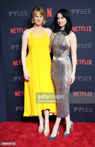 Melissa Rosenberg and Krysten Ritter attend the Netflix FYSEE KickOff at Netflix FYSEE at Raleigh Studios on May 6 2018 in Los Angeles California
