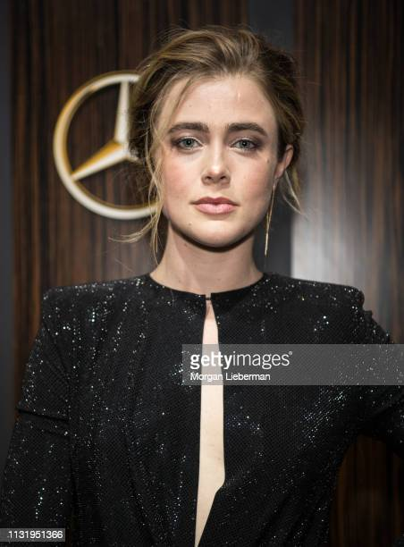 Melissa Roxburgh arrives at the MercedesBenz USA's Oscars Viewing Party at Four Seasons Hotel Los Angeles at Beverly Hills on February 24 2019 in Los...