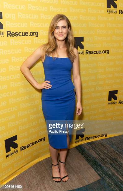 Melissa Roxburgh attends the 2018 IRC Rescue Dinner at New York Hilton Midtown