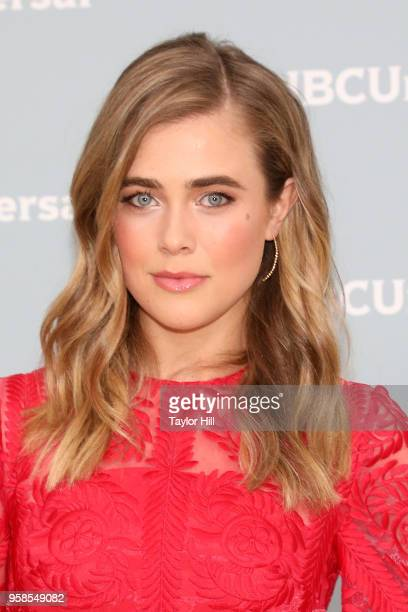 Melissa Roxburgh attends the 2018 NBCUniversal Upfront Presentation at Rockefeller Center on May 14 2018 in New York City