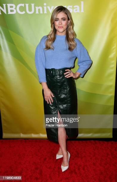 Melissa Roxburgh attends the 2020 NBCUniversal Winter Press Tour 45 at The Langham Huntington, Pasadena on January 11, 2020 in Pasadena, California.