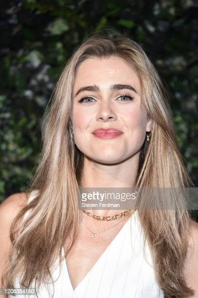 Melissa Roxburgh attends the Alice + Olivia By Stacey Bendet fashion show during February 2020 - New York Fashion Week: The Shows on February 10,...