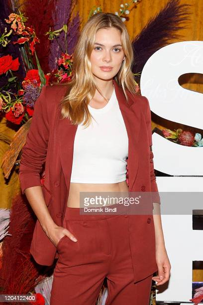 Melissa Roxburgh attends the first anniversary celebration of L'Avenue at Saks on February 04, 2020 in New York City.