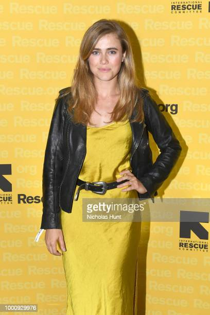 Christie's Auctioneer Jennifer Wright speaks during the IRC GenR NY Force For Change Summer Party on July 17 2018 in New York City