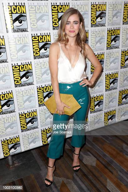 Melissa Roxburgh attends the 'Manifest' Press Line during ComicCon International 2018 at Hilton Bayfront on July 21 2018 in San Diego California