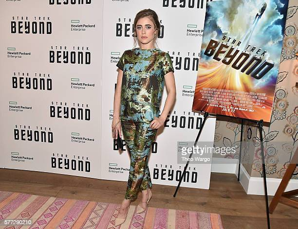 Melissa Roxburgh attends the Star Trek Beyond New York Premiere at Crosby Street Hotel on July 18 2016 in New York City