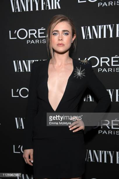 Melissa Roxburgh is seen as Vanity Fair and L'Oréal Paris Celebrate New Hollywood on February 19 2019 in Los Angeles California