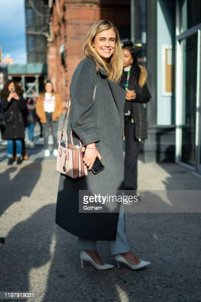Melissa Roxburgh is seen outside the AOL Build studio on January 06 2020 in New York City