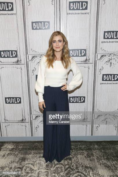 Melissa Roxburgh visits Build Series to discuss the series Manifest at Build Studio on September 24 2018 in New York City