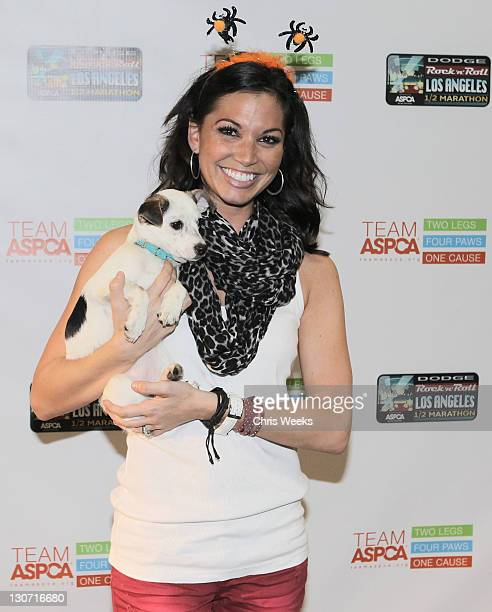 Melissa Rycroft attends the shelter pet costume contest with the ASPCA at Los Angeles Convention Center on October 28 2011 in Los Angeles California