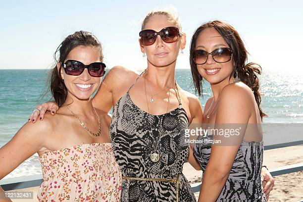 Melissa Rycroft Kym Johnson and Sheryl Burke at the Ubisoft's Just Dance 3 Hosts BBQ At The Fiat Beach House on August 25 2011 in Malibu California