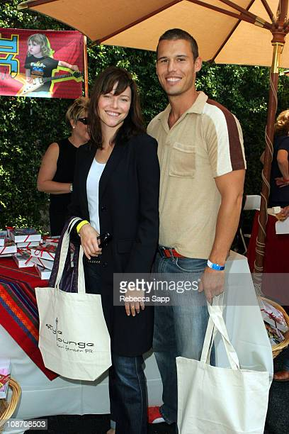 Melissa Sagemiller and Luke Macfarlane during Kari Feinstein PreEmmy Style Lounge Day One at Private Residence in Los Angeles CA United States