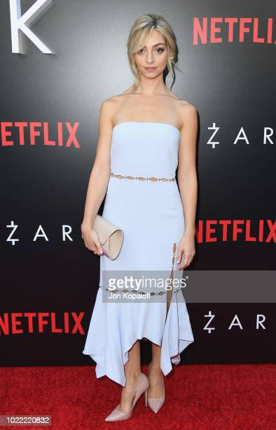 """Melissa Saint-Amand attends the premiere of Netflix's """"Ozark"""" Season 2 at ArcLight Cinemas on August 23, 2018 in Hollywood, California."""