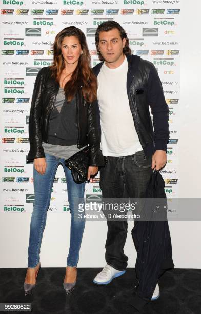Melissa Satta and Christian Vieri attend BETCAPTV Sport Launch held at Visionnaire Design Gallery on on May 13 2010 in Milan Italy